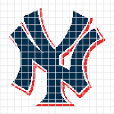 New York Yankees Chart Graph And Row By Row Written Instructions