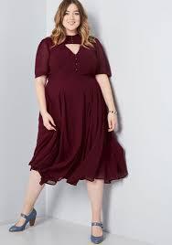 Collectif X Mc Portrait Of Panache Midi Dress