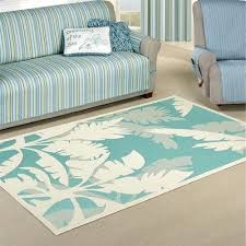gallinas blue light teal indoor outdoor area rug tropical palm tree rugs