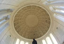 Coffered ceiling of the Jefferson Memorial, Washington, DC