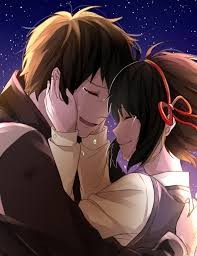 Here you can find the best anime couple wallpapers uploaded by our community. Wallpaper Tears Mitsuha Miyamizu Your Name Couple Stars Romance Taki Tachibana Wallpx