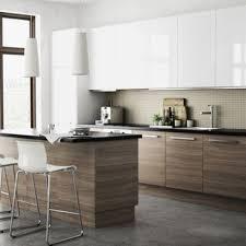 Cuisine Ikea Voxtorp Beau 1 Barkaboda Wooden Herringbone Countertop