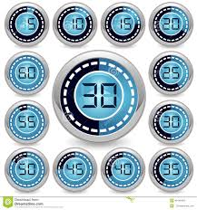 How To Make A One Minute Timer Vector Timer Stock Vector Illustration Of Chrome Blue 46448489