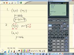 technology in college algebra linear equations equation of line ti 82