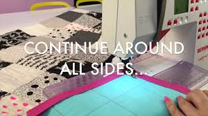 How To Machine Sew Quilt Binding With Mitered Corners - YouTube & How To Machine Sew Quilt Binding With Mitered Corners Adamdwight.com