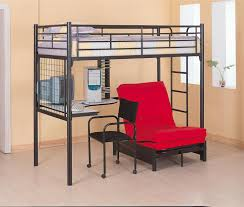 bunks twin loft bunk bed with futon chair desk with pad