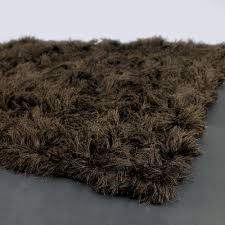 celecot shag rug in chocolate brown from poshtotsnursery fluffy brown rug e25 fluffy