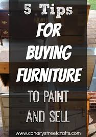 5 Tips For Buying Furniture To Paint And Sell
