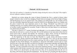macbeth gcse coursework gcse english marked by teachers com document image preview