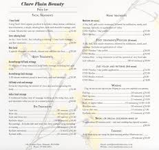 clare fluin beauty list treatments north cornwall