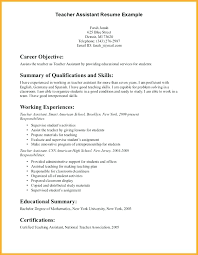 Assistant Teacher Resume Examples Resume Format For Phd Best Of