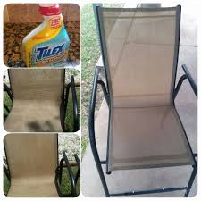 scrub free way to clean your moldy patio furniture just spray with tilex mold and
