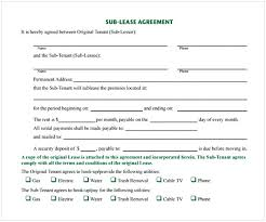 Sample Sublease Agreement Simple Sublease Agreement Cycling Studio