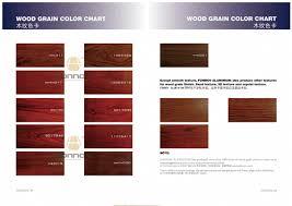 Complete Wood Grain Color Chart On Aluminum Fonnov Aluminium
