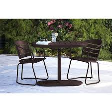 bistro patio furniture outdoor metro retro steel 3 piece oval nesting patio bistro set patio bistro