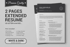 Two Page Resume Examples 100 Pages Resume CV Extended Pack Resume Templates Creative Market 93