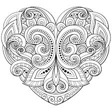 Heart Coloring Pages Pdf Great Free Clipart Silhouette Coloring