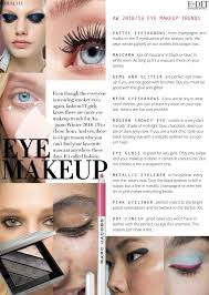 eye makeup that is in fashion for autumn winter 2018 19