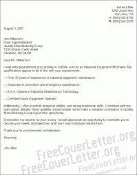Industrial Equipment Mechanic Cover Letter Sample Regarding Heavy