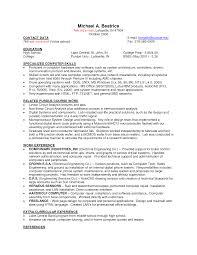 basic job resume examples - Summer Job Resume Template