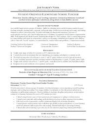 Student Teacher Resume Template Classy Teacher Resumes Examples Child Care Teacher Resume Examples New