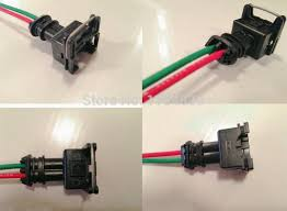 popular pigtail harness connector buy cheap pigtail harness 1 pcs ev1 injector connector pigtail harness case for inyector de universal 15cm wire