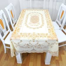 tablecloths fl plastic tablecloth kitchen gold print round new white style square