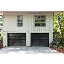 aluminum frame glass garage door glass