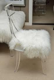 bathroomlovely lucite desk chair vintage office clear. Vintage Lucite Desk Chair Upholstered In Mongolian Lamb 3 Bathroomlovely Office Clear