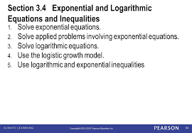 section 3 4 exponential and logarithmic equations and inequalities
