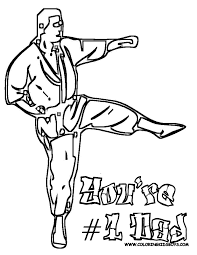 amazing free printable karate coloring pages and print for