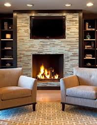 pictures gallery of fireplace without mantle share on