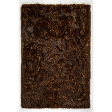 5 x 8 medium red and brown contemporary area rug faux fox