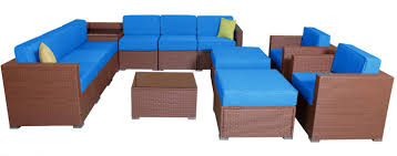 mcombo patio furniture sectional sets wicker rattan couch sofa chair luxury big size 13 pc 0