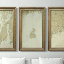 Framed Nautical Charts Lelephant