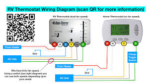rv thermostat wiring instructions wiring diagram user