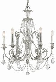 6 lights olde silver crystal chandelier silver crystal chandelier h15