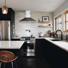 Modern Industrial Kitchen Quartzite Countertops Black Kitchen