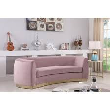 Pink velvet sofa Tufted Quickview Ebay Hot Pink Velvet Sofa Wayfair