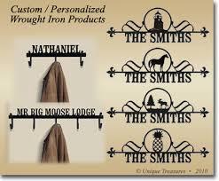 Personalized Coat Racks Custom House Plaques Signs Coat Racks Wrought Iron 33