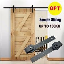 8ft sliding barn door hardware roller steel track rail kit home closet set uk