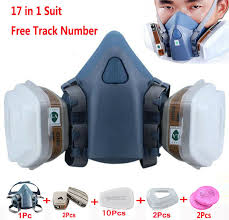 details about 17 in 1 chemical safety painting spray for 3m7502 half face respirator gas mask