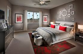 ... Red can be used with class in the bedroom when done right [Design: In