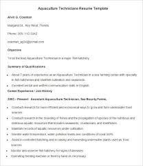 Agriculture Resume Template  24+ Free Samples, Examples, Format Download!