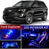 amazon com 1971 pontiac gto lemans tempest wiring diagram 18 x 24 ford explorer 2011 2017 led premium blue light interior package kit 12 pcs