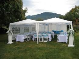 white tent of