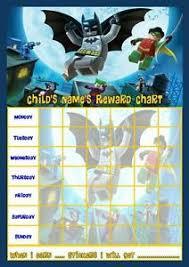 Lego Batman Reward Chart Lego Batman Superheroes Personalised Reward Chart With
