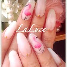 simple pink flamingo nails aloha nail designs