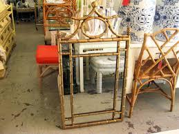gold bamboo mirror. Hollywood Regency Faux Bamboo Pagoda Mirror Gold
