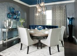 blue grey dining rooms. 72 Inch Round Dining Table Room Contemporary With Blue Ceiling Grey Rooms L